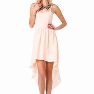 Forever 21 Peach High Low Dress